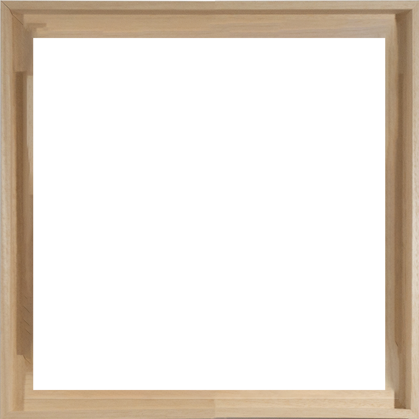 Natural wood frame